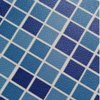 Quality 1.5mm blue/mosaic China factory sell PVC material automatic swimming pool cover for sale