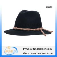 Quality Fashion wool black fedora oktoberfest beer hats for men and women for sale