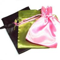 Quality Various Color Reusable Satin Drawstring Bags , Advertising Gifts Bags for sale