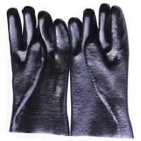 Buy cheap Black Protective PVC Safety Work Gloves Oil Resistant Gloves from wholesalers