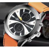 Buy cheap Wholesale Fashion Mem Dual time 3 ATM Waterproof Genuine Leather Band Sport from wholesalers
