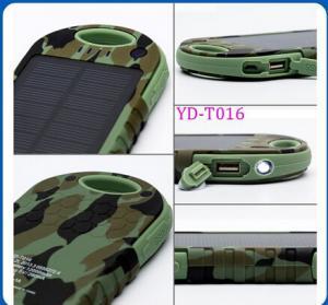 China Manufaturer/OEM Solar Power Bank Charger 12000mAh Waterproof IPX6 Christmas Promotion on sale