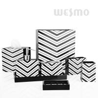 Quality Geometrical Pattern 8PCs / Set Polyresin Bathroom Set Bathroom Collection (WBP0839A) for sale