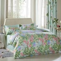 China Luxury Beautiful Home Bedding Sets Twin Size / Queen Size Silk Material on sale