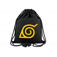 Quality Custom Printed Canvas Shopping Bags , Boys Girls Drawstring Sports Backpack for sale