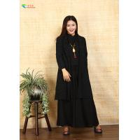 Quality Long Sleeves Black Chinese Style Ladies Jackets , Female Cotton Jacket Coat for sale