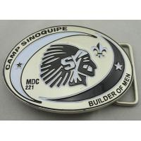 Quality Camp Sinoquipe Belt Buckle with soft Enamel, Zinc Alloy Custom Made Men Buckles with Misty Nickel Plating for sale