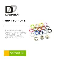 Quality Metal 5 - prong Snap Buttons Brass Colored Press Buttons Candy Color Painted snaps for sale