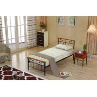 Buy cheap Stable steel frame bed with eco-friendly wood slat, single size product