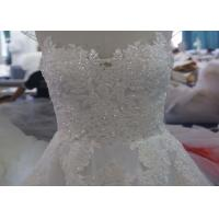 All Handwork Pregnant A Line Ball Gown Wedding Dress With Train Sexy Backless