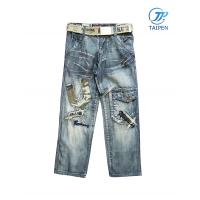 Quality Fashion Leisure Cotton Pants Denim Toddlers Skinny Jeans With Zip for sale