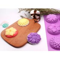 China Silicone Molds Flower Soap Mold Candy Molds Chocolate Molds Biscuit Cake Mold Ice Cube Tray on sale