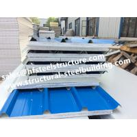 China Fireproof Cold Room Insulation Panel And Insulated Roofing EPS Sandwich Panels Width 1150mm on sale