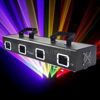 China Small Power 4 Lens Four Head RGBY Multi Color Beam DJ KTV Laser Light Projector on sale