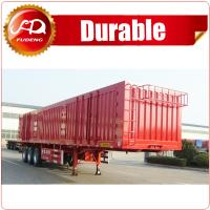China Shandong Fudeng Coal transporting dry van type box truck Enclosed cargo semi trailer on sale