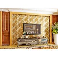 Buy Luxurious Modern Style Wallpaper with Removable Gold Foil Material , Geometric Pattern at wholesale prices