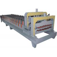 Automatical Roof Glazed Tile Roll Forming Machine With PANASONIC PLC Computer Control