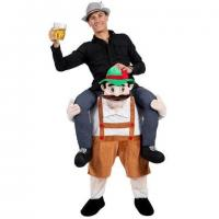 Quality Adult Ride On Stag Mascot Animal Mascot Costumes Bavarian Oktoberfest for sale