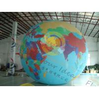 Quality Custom 5m PVC Durable Inflatable Globe Ball Helium For Tade Show for sale