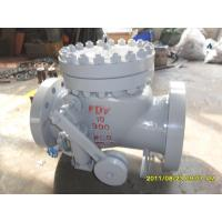 China SS304 Counter Weight Check Valve TRIM API 6D BS 1868 WC6 BODY 900 LB Pressure on sale