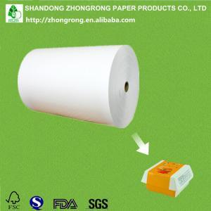 PE coated Ivory board/FBB/SBS for hamburger/sandwich packaging