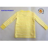 Quality Size  Customized Plain Baby Clothes Stripe Long Sleeve Kids Pajama Tops for sale