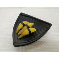 China Imitation Porcelain Dinnerware Sets Black Color Triangle-Shape Length 20cm Weight 344g on sale