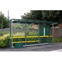 Quality Canopy Prefabricated Bus Stop Shelter Light Weight Strong Rust Resistance for sale