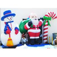China Snowman Air Characters Inflatables , Santa Claus Inflatable Marketing Products on sale