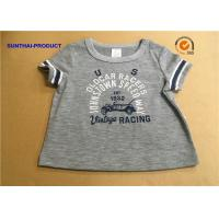 Quality Overall Size Baby Boy Short Sleeve T Shirt , Heather Gray Kids Short Sleeve Tops for sale