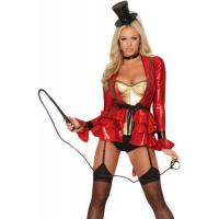 Quality Uniform Costume Wholesale Sexy Ring Master Costume in Red by Spandex with Size from XXS to XXXL Available for Halloween for sale