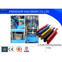 Quality Automatic Steel C Purlin Roll Forming Machine For The Aluminum And Galvanized for sale
