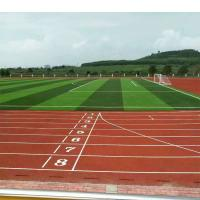 Quality 400 Meter Multi Purpose Gym Flooring , Spray Coat Synthetic Sports Flooring for sale