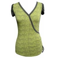 China OEM Green Bamboo tops women v neck t shirt eco friendly clothing on sale