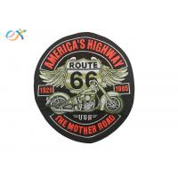 Quality Rectangle Embroidered Motorcycle Patches , Custom Made Patches For Leather Vests for sale