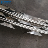 China Galvanized Steel Protection Safety Fence Single Razor Barbed Wire on sale