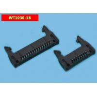 China Wt1030-1b 2.54mm 10 Pin Header Connector Bend Foot Ejector Header on sale