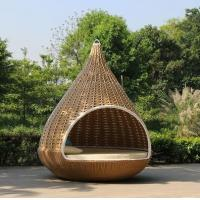 Buy cheap Outdoor garden sunbed Swing chair PE rattan hanging sofa cage from wholesalers