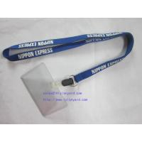 China Waterproof Type Clear Plastic Horizontal Name Tag Badge Id Card And Screen Lanyard on sale