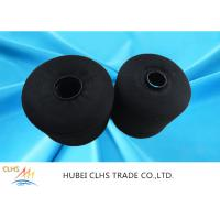 Quality Black Spun Dyed Polyester Yarn High Strength  Abrasion Resistance For Jeans for sale