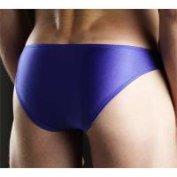 Quality Eco Friendly Sports Spandex / Cotton Blue Sexy Mans Underwear for Swimming for sale