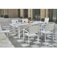 Buy cheap Aluminium Outdoor Patio Furniture 7 Piece Table And Chairs For Dining / Seating product