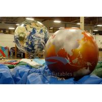 Quality Exhibition Inflatable World Globe Ball 2 M Digital Printing With Globe Map for sale
