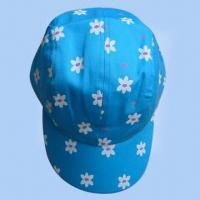 Quality Women's 100% Cotton Printed 4-panel Cap for sale
