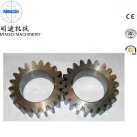 Quality Black Finished Carton Steel Metal Spur Gear For Equipment ISO9000 for sale