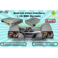 Quality Quad Core Android Navigation box , Upgraded Multimedia Video Interface for AUDI for sale