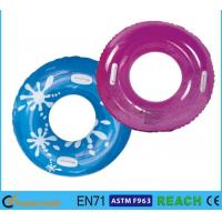 Quality PVC Vinyl 30 Inch Swim Ring Recreation Lively Printed With UV Protection for sale