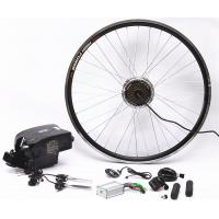 Quality 26 Inch Electric Bike Conversion Kit Gearless Hub Motor Front Wheel With Battery for sale