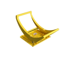 Quality Foldable Rubber plate Friction increases Mobile Vehicle Barrier for sale