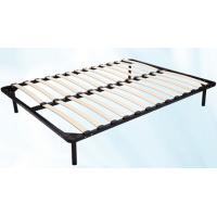 Buy Hot sale 1.5m * 1.8m black metal frame bed with Durable wood slat stable structure at wholesale prices